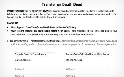 Transfer on Death Deed Provides Tremendous Benefit for Low-Income Texans